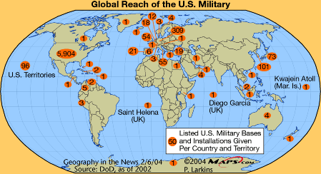 Overseas Us Military Installations Reduced By 247 Since 2008 But - Us-military-base-locations-map